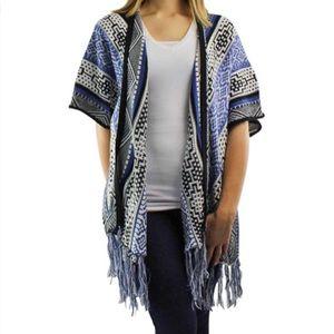 TEA & CUP • Aztec Print Kimono Sweater